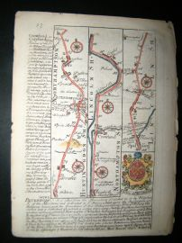 Owen & Bowen C1740 H/Col Road Map. Peterborough Northampton - Spalding, Lincs